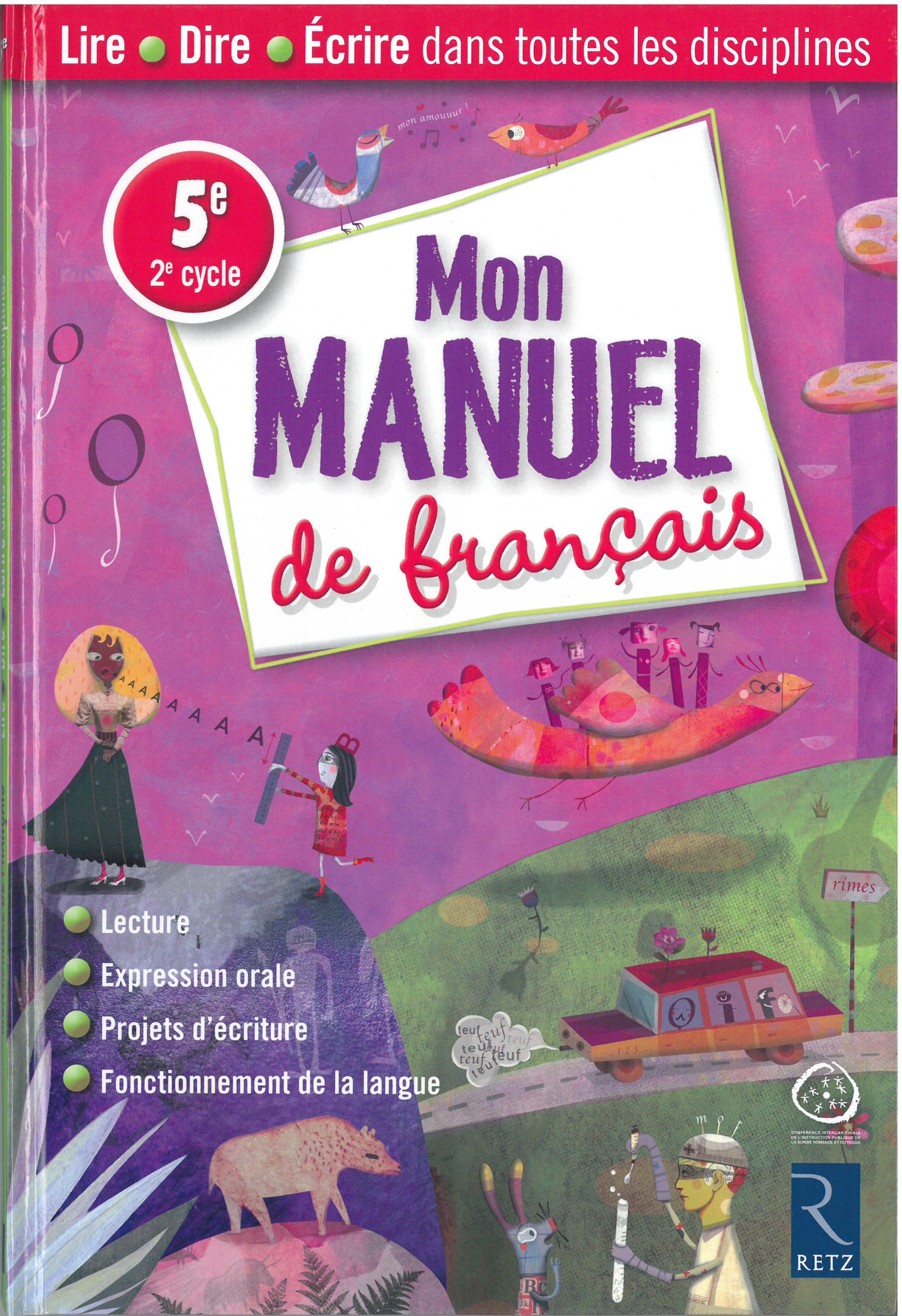 Mon Manuel De Francais 5e Ciip
